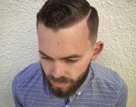 Hard part and beard trim
