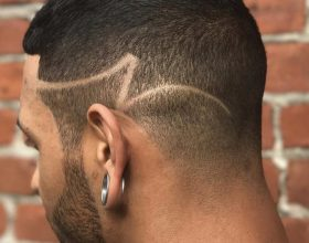 Fade with straight razor design